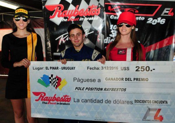 El primer Premio Pole Position Raybestos para Falchi
